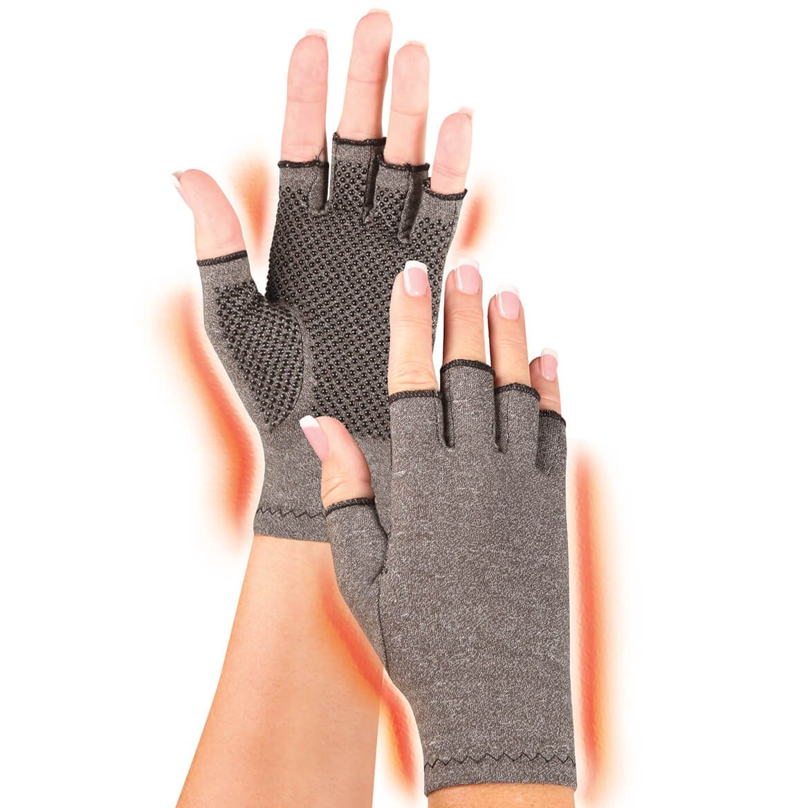 Light Compression Gloves with Grippers-344502