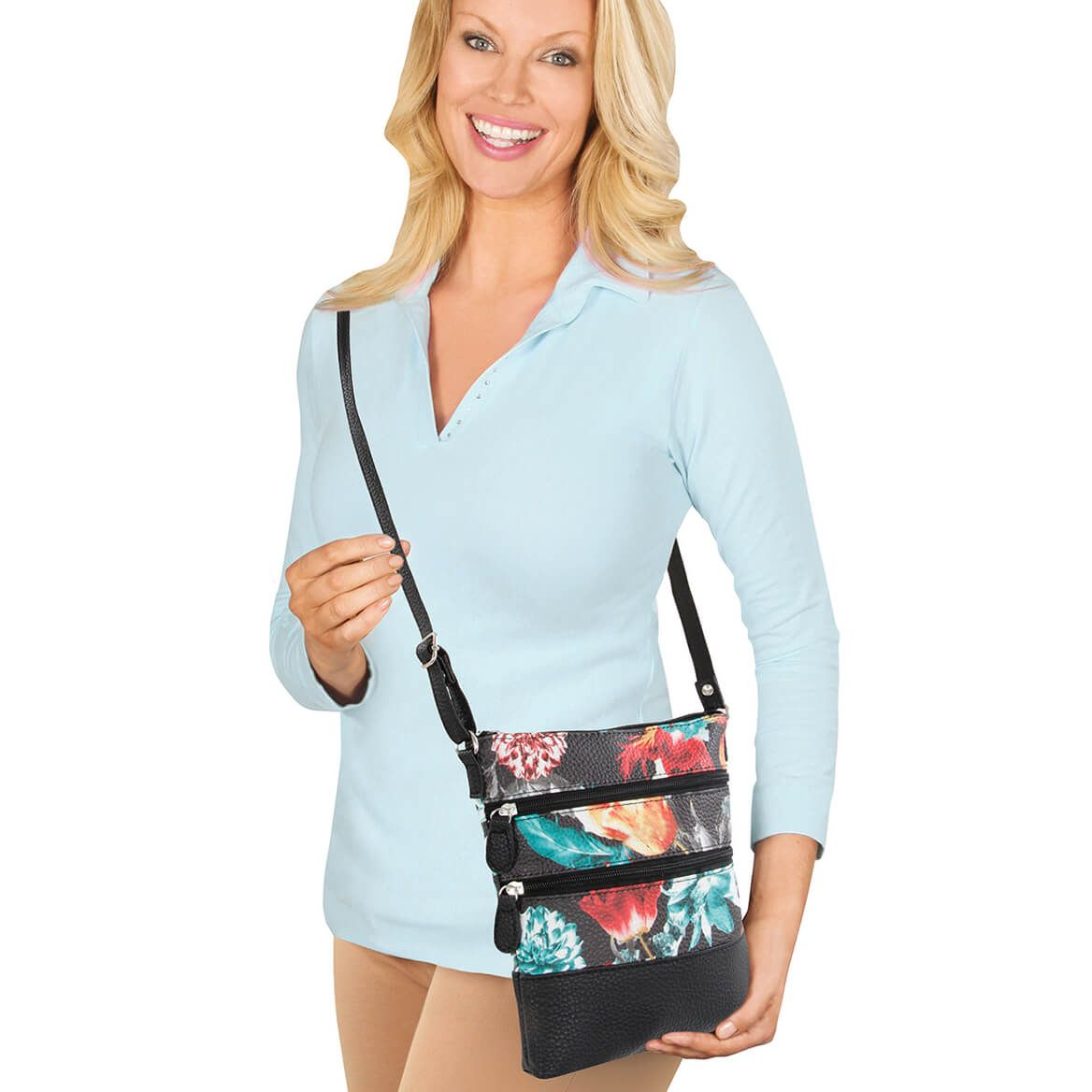 Floral Crossbody Tote-369773