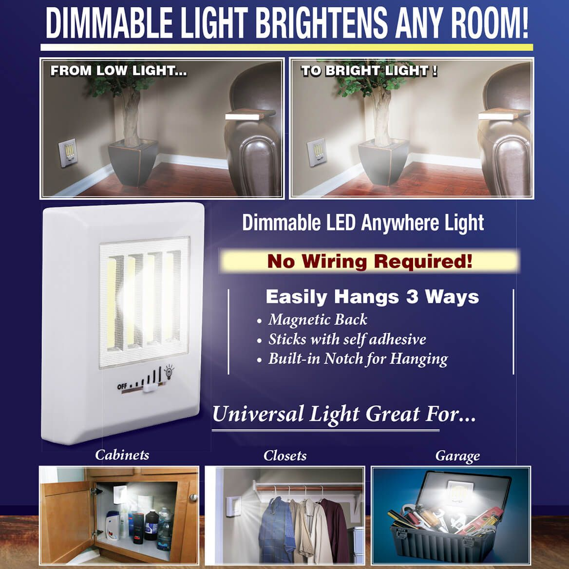 Dimmable LED Anywhere Light-369866