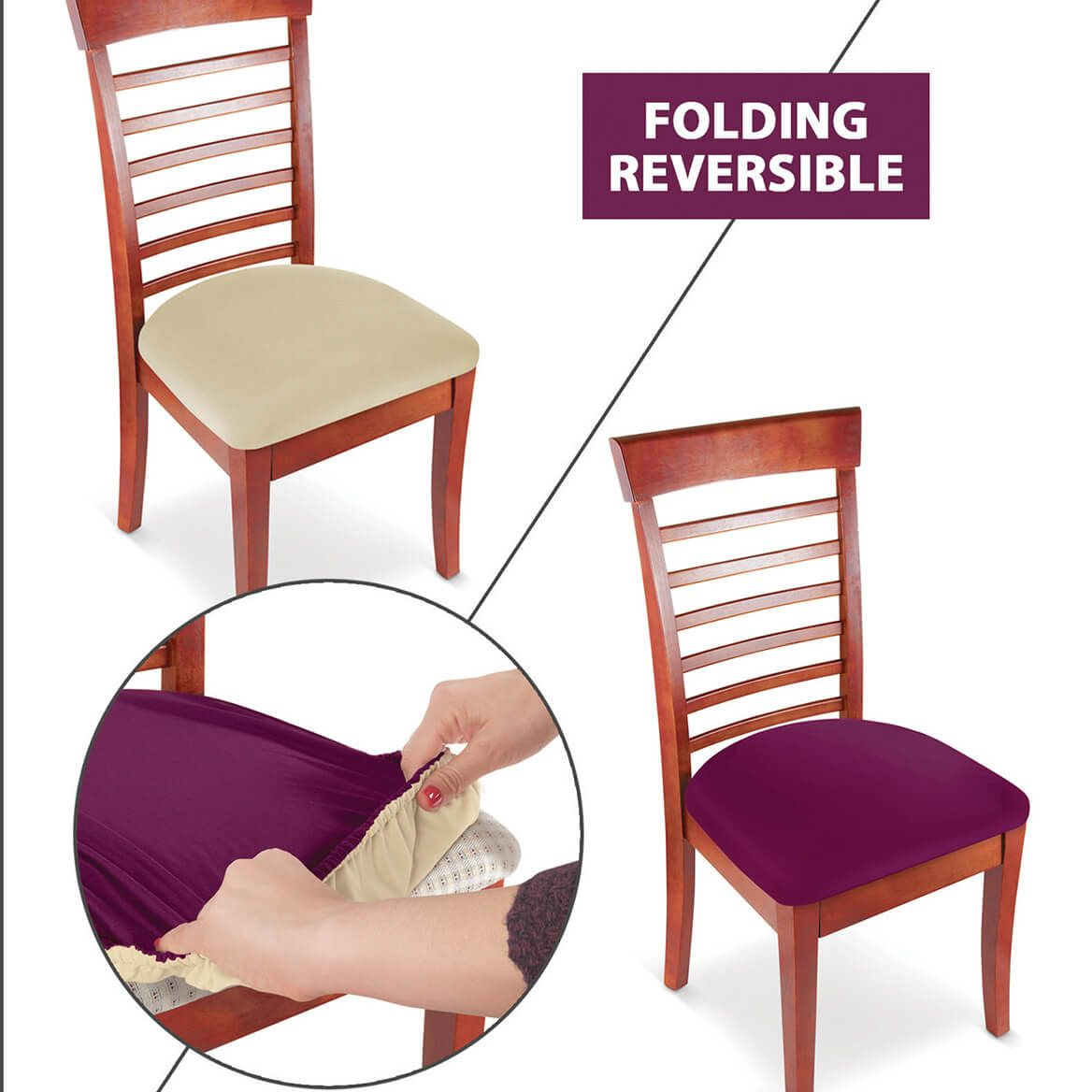 Reversible Chair Covers S/2-369945