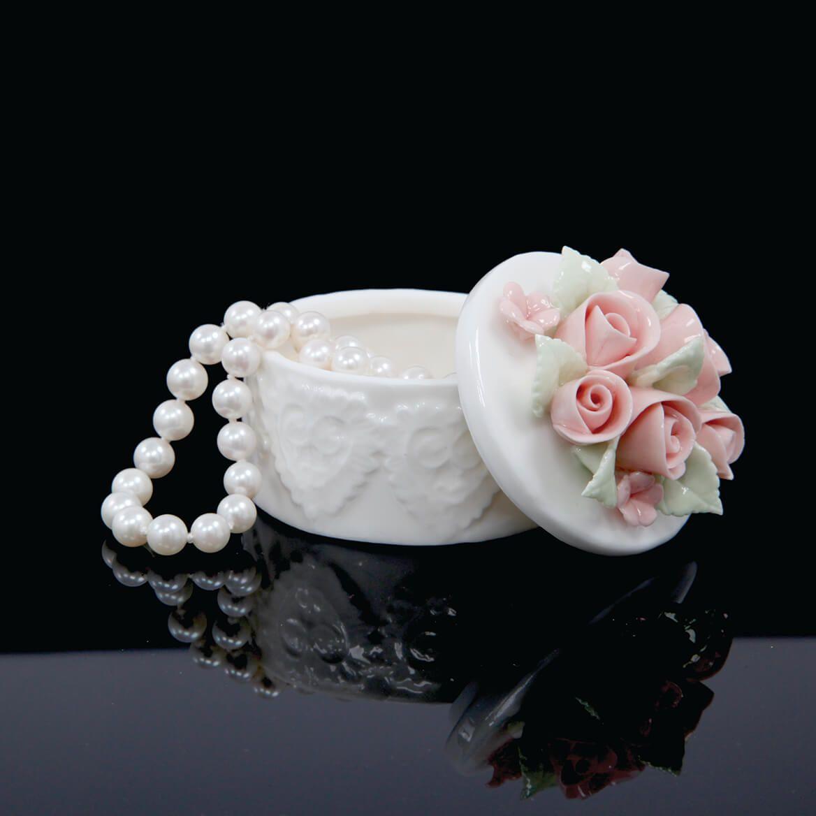 Porcelain Rose Keepsake Box-369968