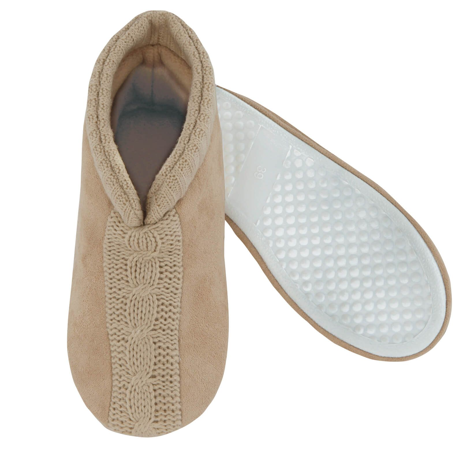 Feather Light Sweater Slippers Ladies-370008