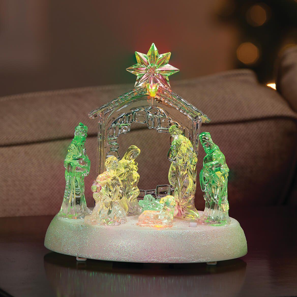 Musical LED Color Change Nativity Scene-372161