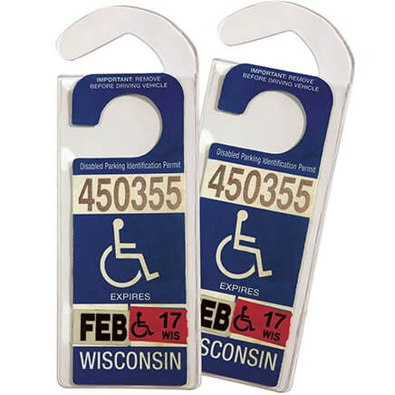 Handicap Placard Hangers, Set of 2-355466