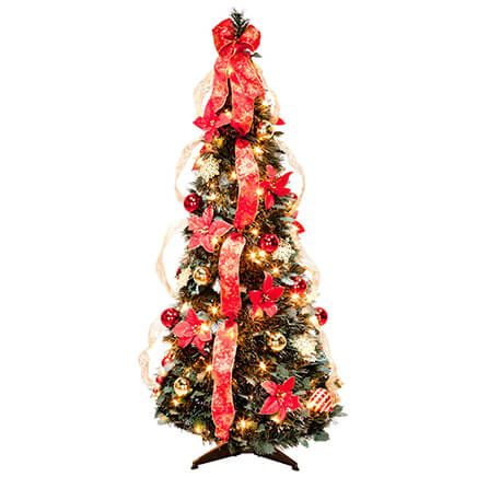 4' Red Poinsettia Pull-Up Tree by Holiday Peak™-356296
