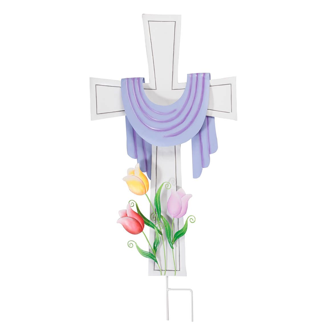 Metal Easter Cross Stake by Fox River Creations™-365860