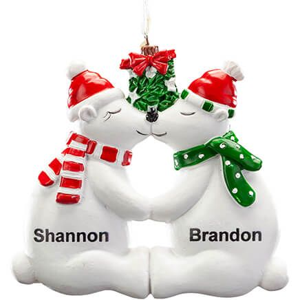 Personalized Kissing Polar Bear Couple Ornament-368177