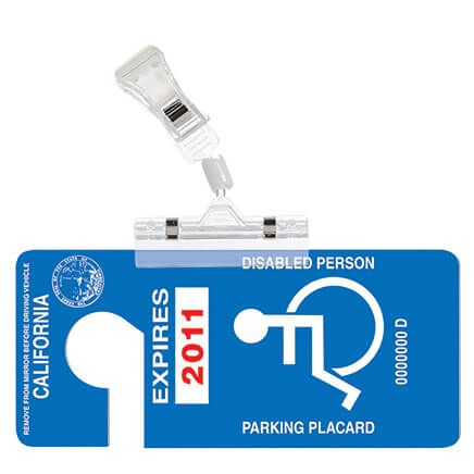 Handicap Placard Clip-369759