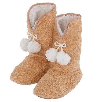 Snuggly Soft Slipper Booties Ladies-369947