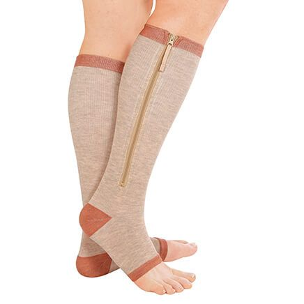 Copper Support Zip Socks-370112