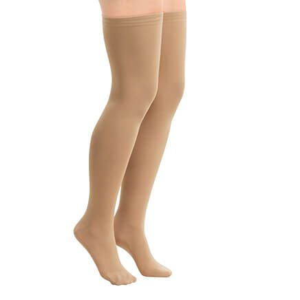 Non-Run Compression Thigh Highs-370117
