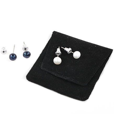 Genuine Pearl Post Earrings-370240