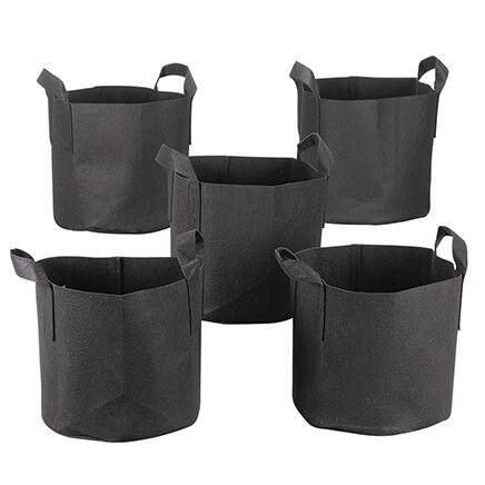 Reusable Fabric Grow Bags, Set of 5-371512