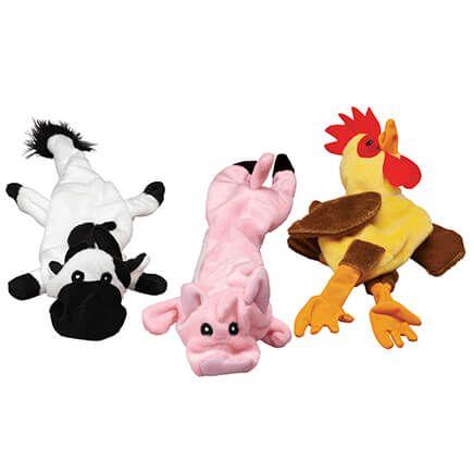 Stuffing Free Farm Animal Dog Toys, Set of 3-371949