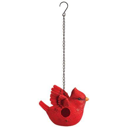 Resin Cardinal-Shaped Birdhouse-372286