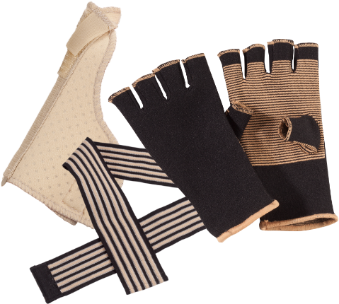 Hand and wrist braces and supports