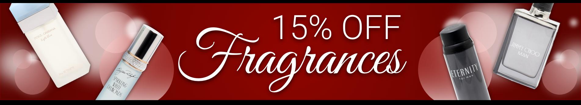 15% Off All Fragrances