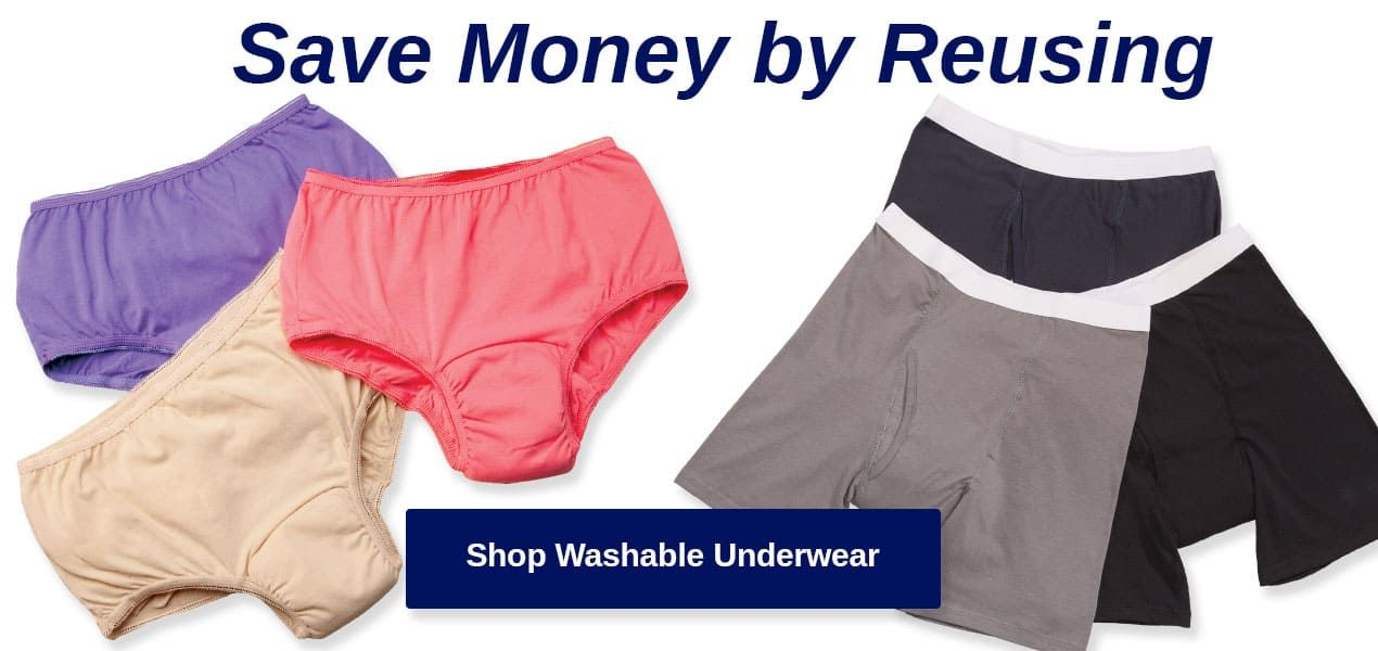 Washable Underwear - Save Money by Reusing