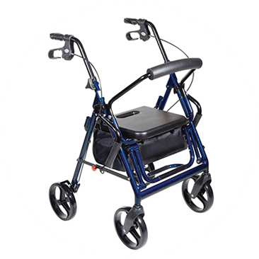 Transport Chair and Rollator in 1