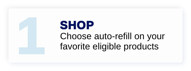 Shop - Choose auto-refill on your favorite eligible products