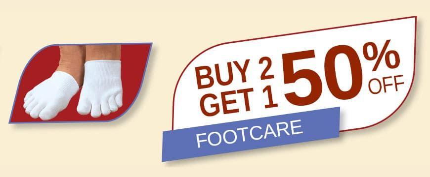 Buy 2 Get 1 50% Off Footcare