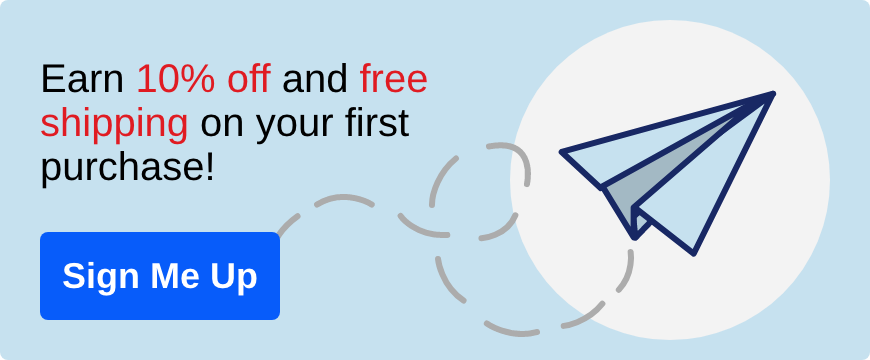 Earn 10 percent off and free shipping on your first purchase