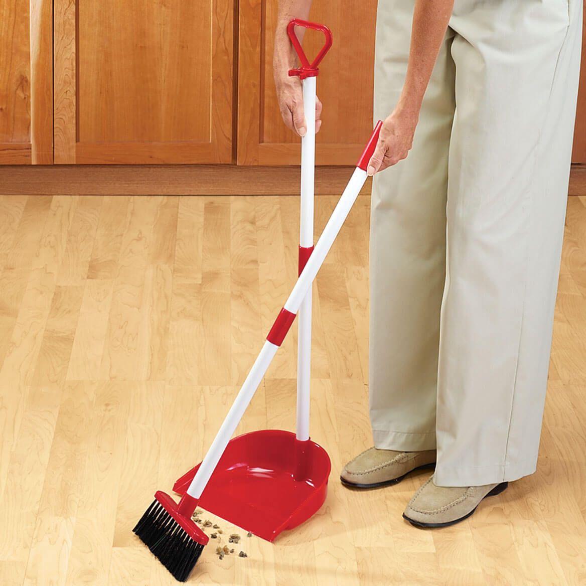 Long Handled Dust Pan With Broom-303515