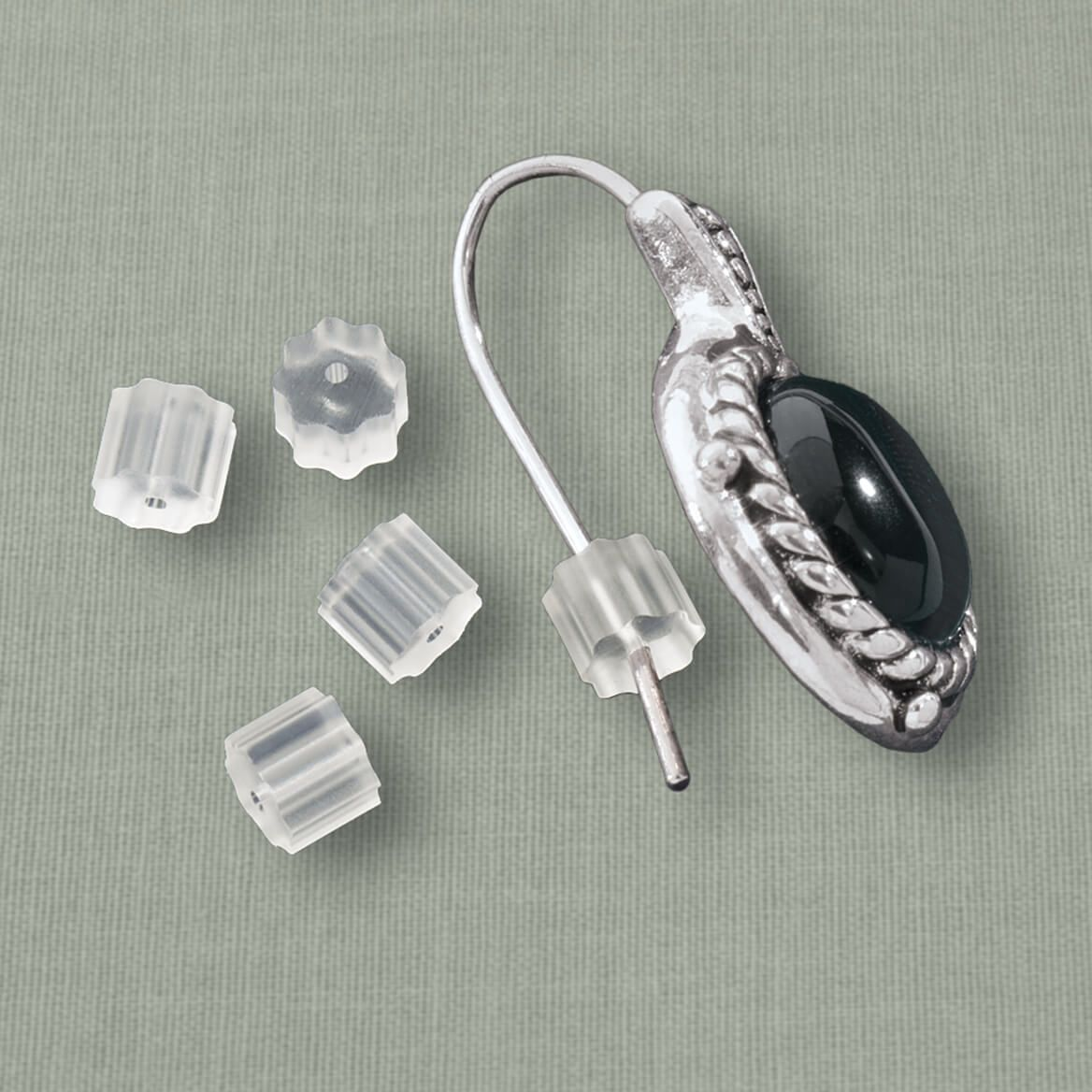 French Wire Earring Clutches, Set of 12-310561