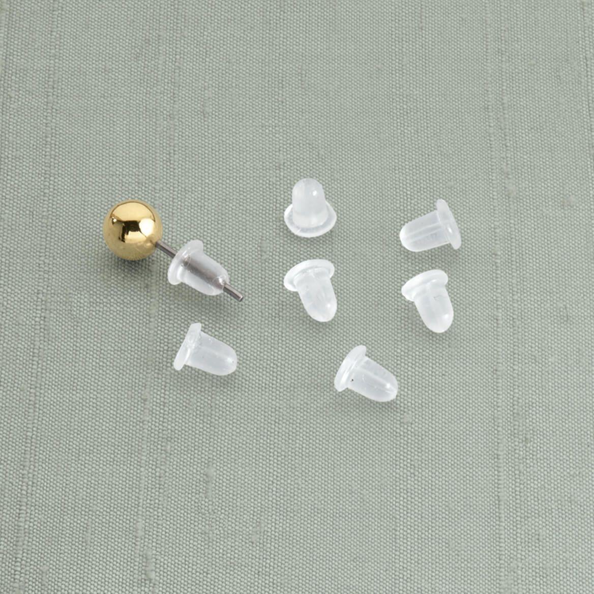 Clear Bullet Earring Backs-315271