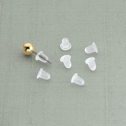 Clear Bullet Earring Backs - Set of 12-315271