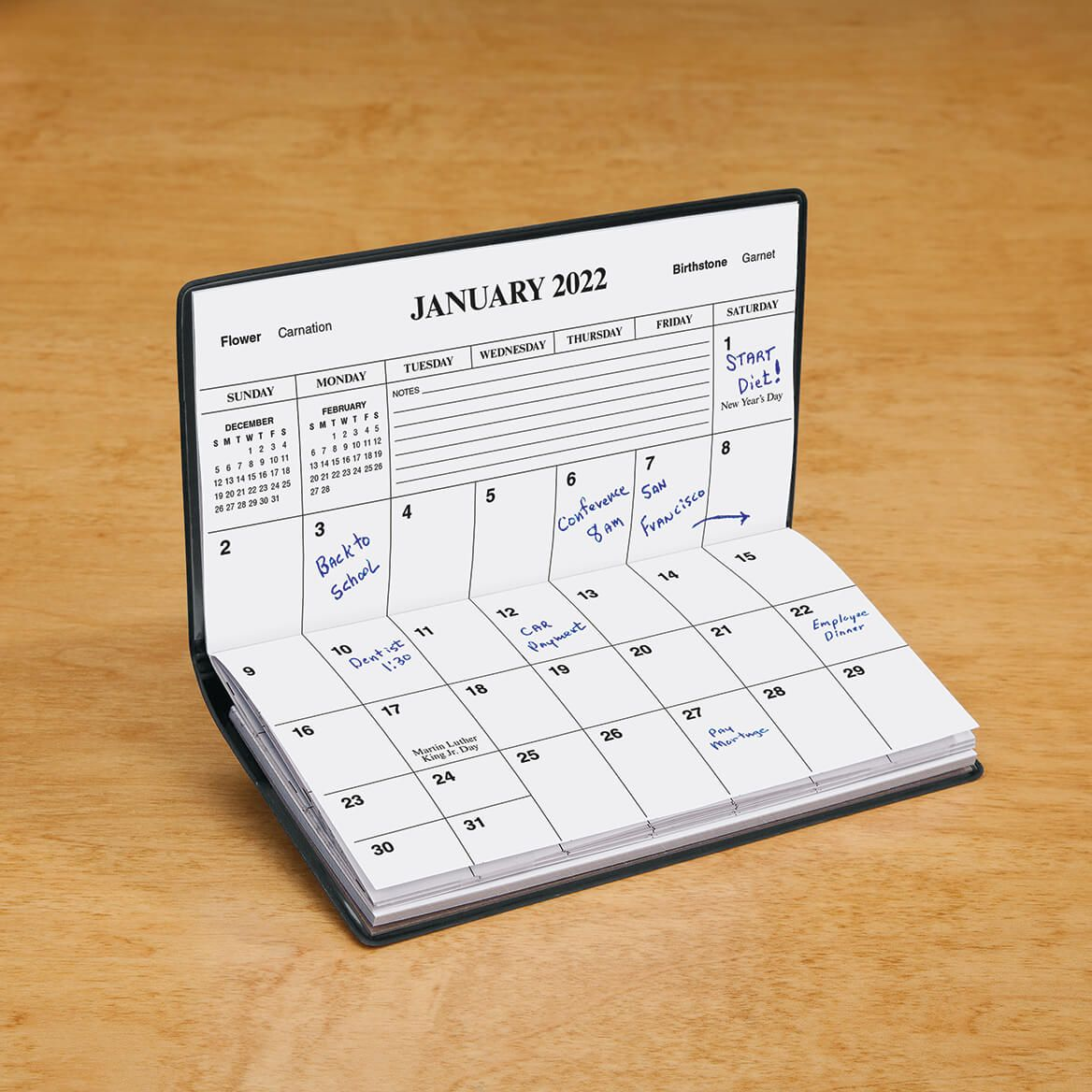 Burgundy Personalized 2 Year Pocket Planner-342136