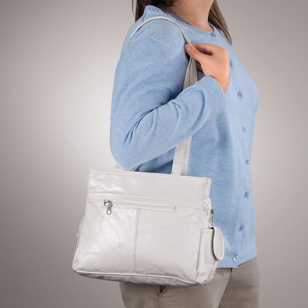 White Leather Handbag-344917