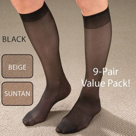 Women's Support Knee Highs, 9 pack-345496