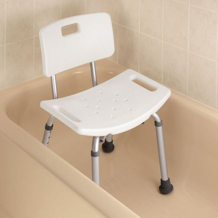 Bath Bench With Back-346181