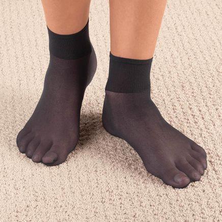 Diabetic Nylon Ankle Hose - 5 Pairs-347564