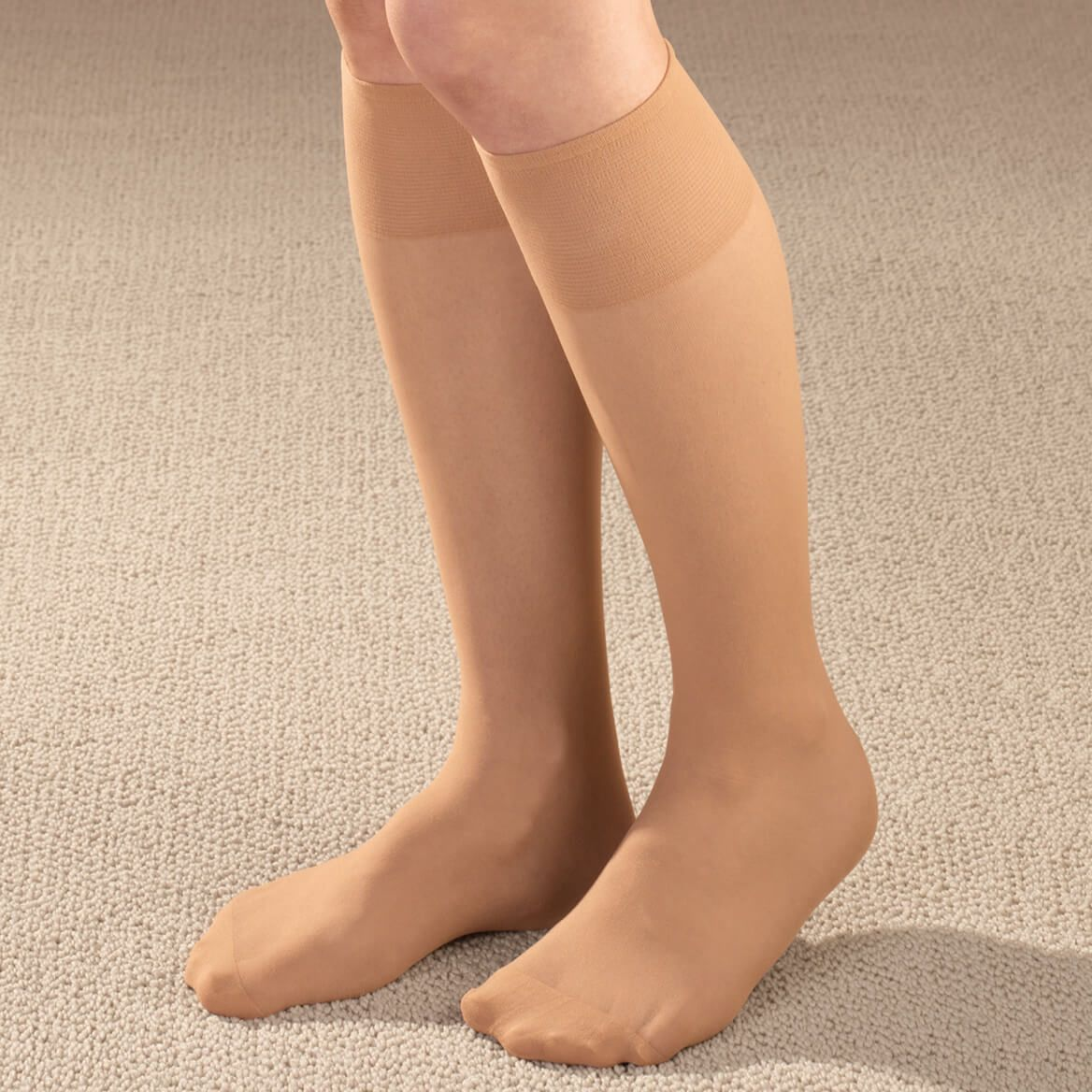 Diabetic Knee High Sheer Hose-347565
