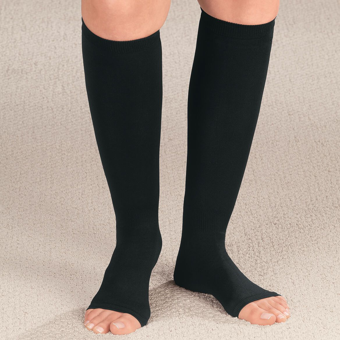 Compression Open Toe Knee Highs,  20–30 mmHg-349170