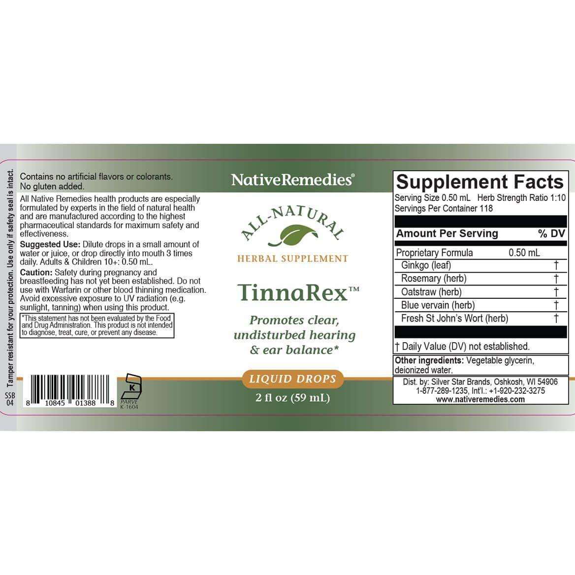 NativeRemedies® TinnaRex™-351042