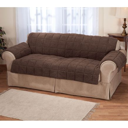 Waterproof Quilted Sherpa Sofa Protector by OakRidge™-351696