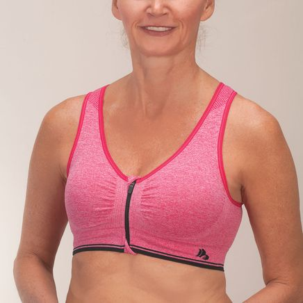 Easy Comforts Style™  Zipper Sports Bra w/RemovablePadding-352810