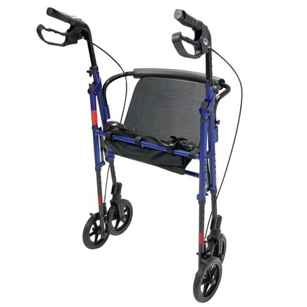 Wide Height-Adjustable Rollator-352816