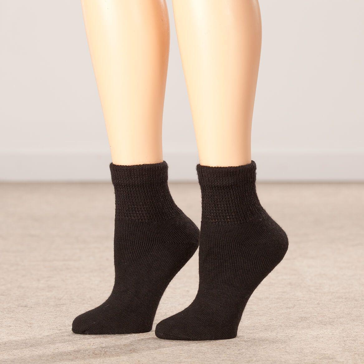Silver Steps™ 3 Pack Quarter Cut Extra Plush Diabetic Socks-356348