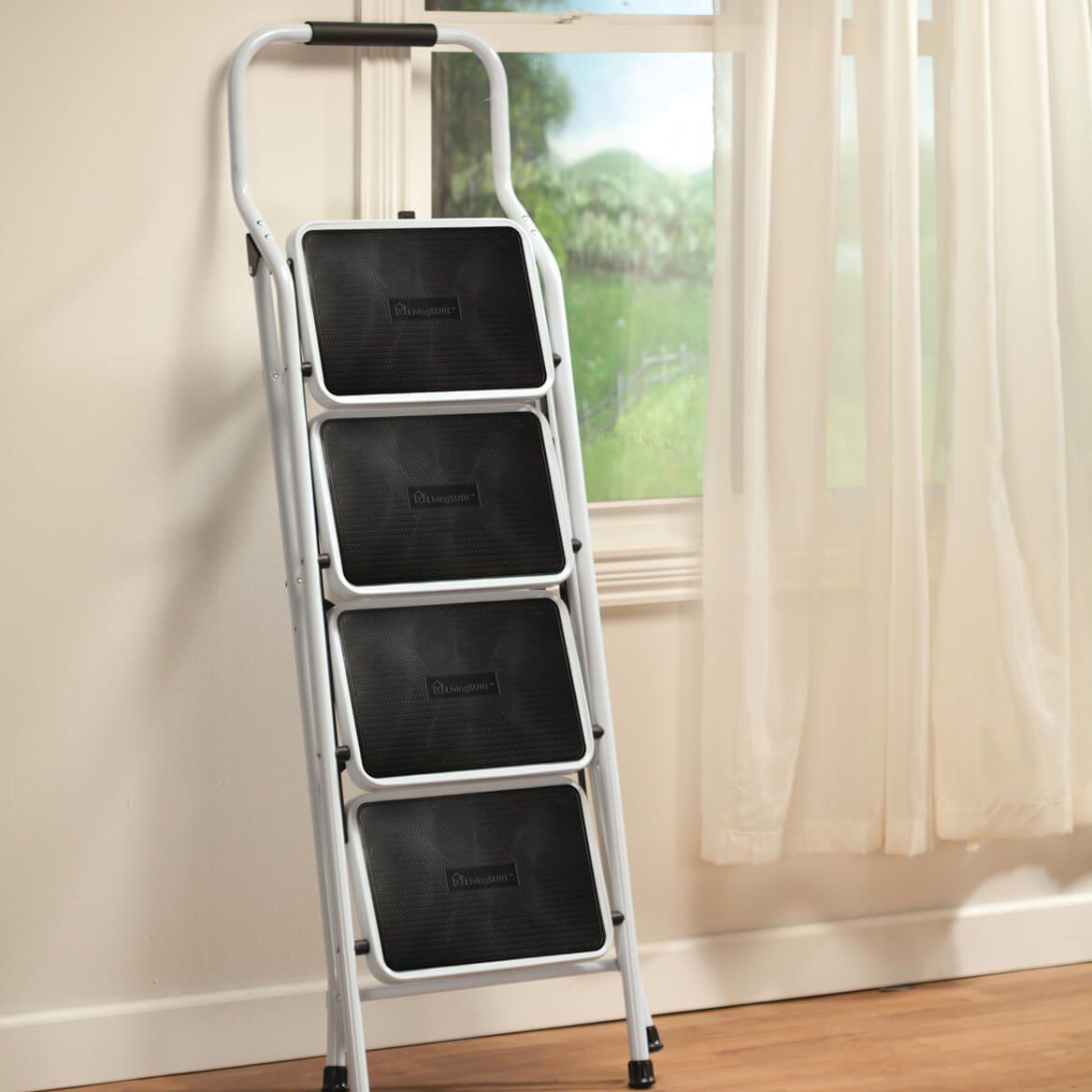 Folding Four Step Ladder by LivingSURE™-360949