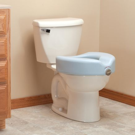 Antimicrobial Locking Raised Toilet Seat-360981