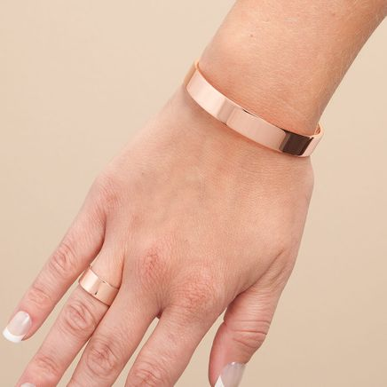 Copper Magnetic Ring and Bracelet Set-361571
