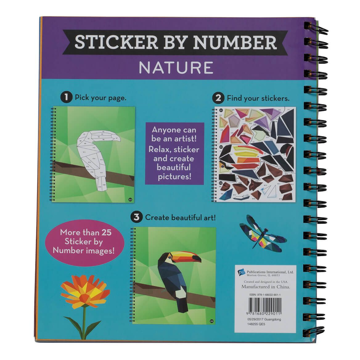 """Brain Games™ """"Nature"""" Sticker By Number Book-361583"""