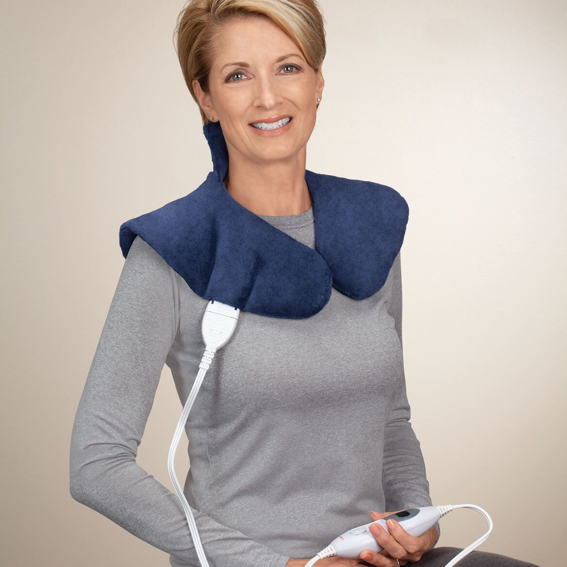 Plush Heating Pad Wrap for Shoulders & Neck-361752