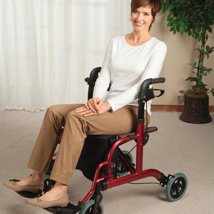2-in-1 Rollator and Transport Chair-367537