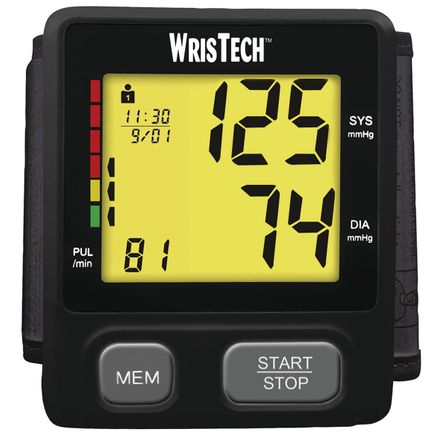 Color Code Slim Wrist Blood Pressure Monitor-368582