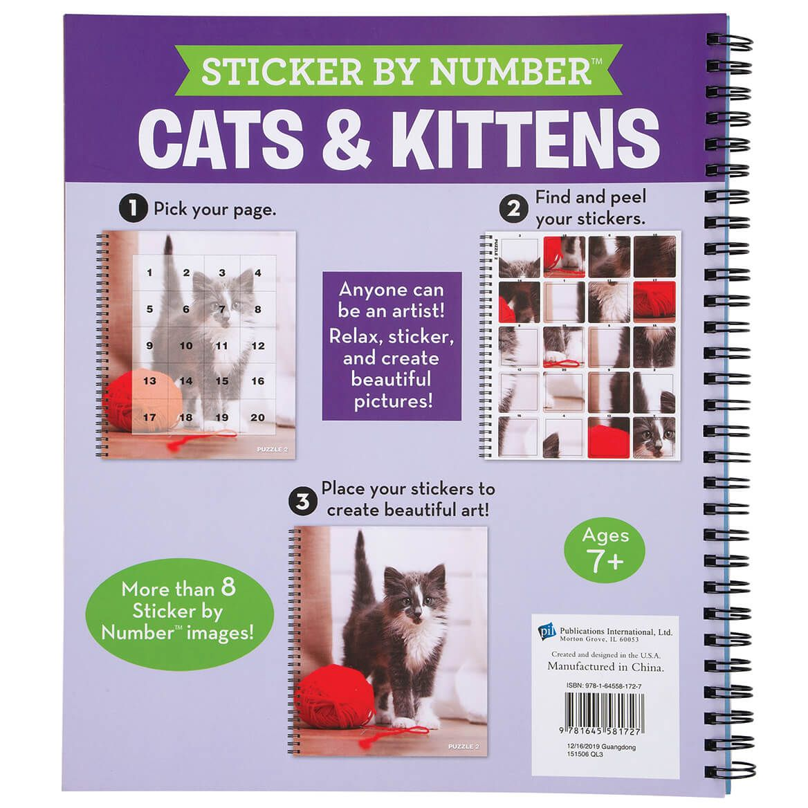 Brain Games® Sticker by Number Cats & Kittens Book-370343
